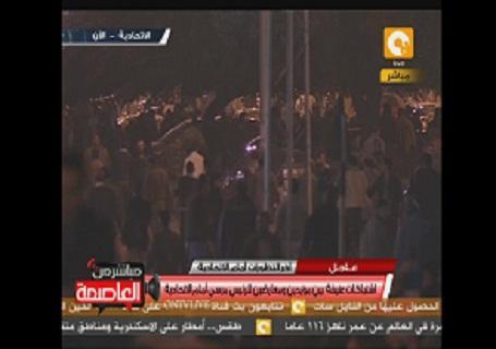 اشتبكات امام قصر الاتحادية بالقاهرة