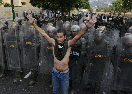 الاحتجاجات بفنزويلا