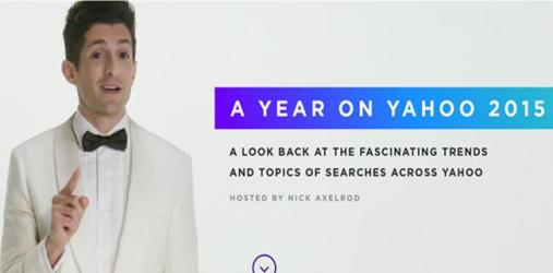 yahoo most searched in 2015