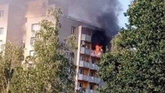 حريق في مبنى سكني في تشيك