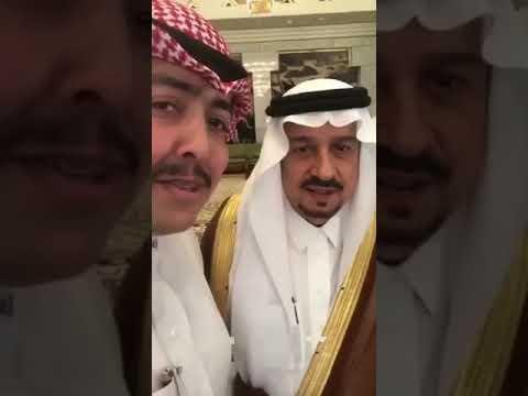 """بالفيديو.. مواطن لأمير الرياض: """"لو أمي مو على ذمة الوالد كنت زوجتك إياها"""" والأمير يرد"""