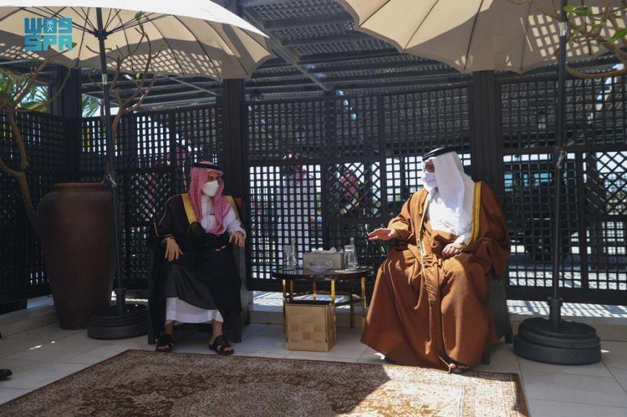 ولي عهد البحرين يستقبل سمو وزير الخارجية