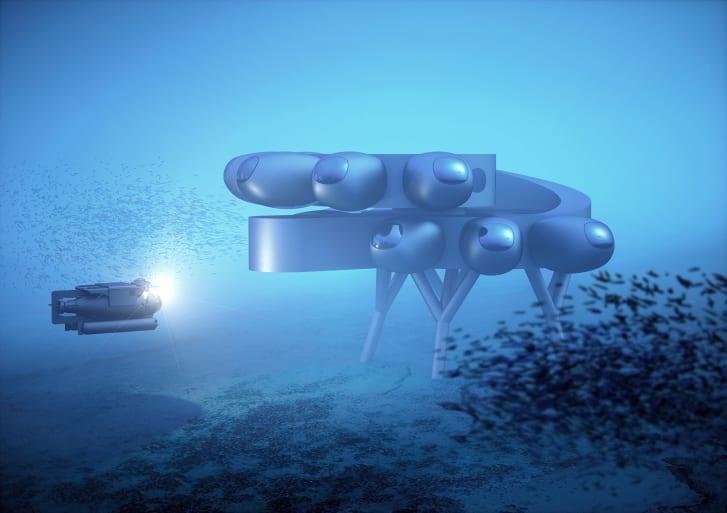 بالصور .. تصميمات طموحة لمحطة بحثية ومجمعات سكنية تحت المحيطات