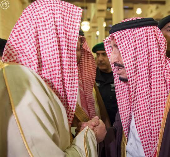 صورة معبرة تجمع الملك والمفتي
