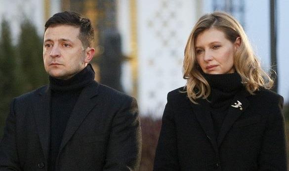 إيلينا زيلينسكايا وفلاديمير زيلينسكي