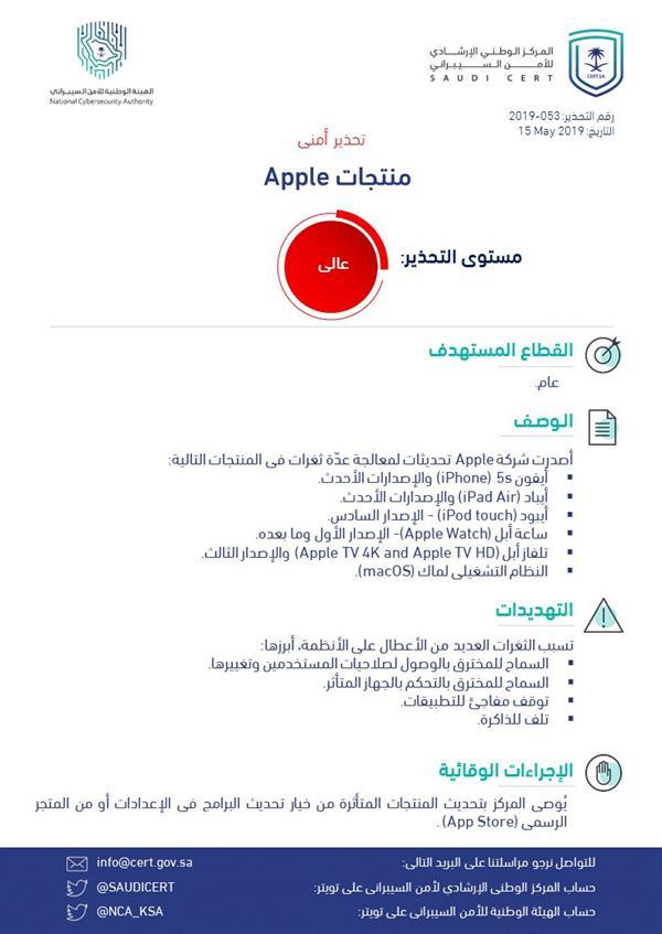 الهيئة الوطنية للأمن السيبراني تصدر 52b4d1e7-ce9c-4338-a