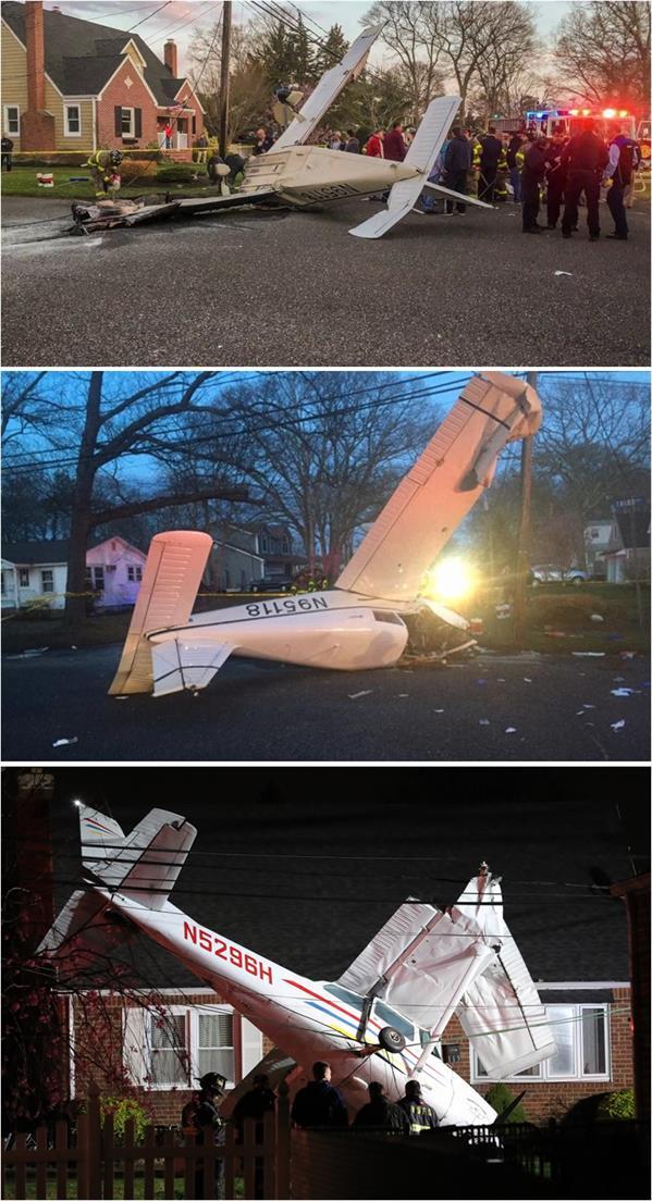 أسلاك الكهرباء تنقذ ركاب طائرة من الموت في جزيرة لونغ آيلند