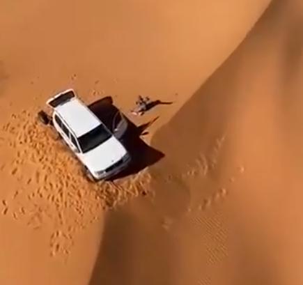 العثور على مُسن فُقد في منطقة صحراوية