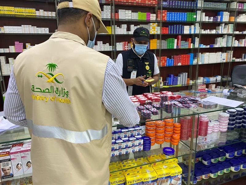 ضبط صيدلية تبيع أدوية غير مرخص بها في الطائف