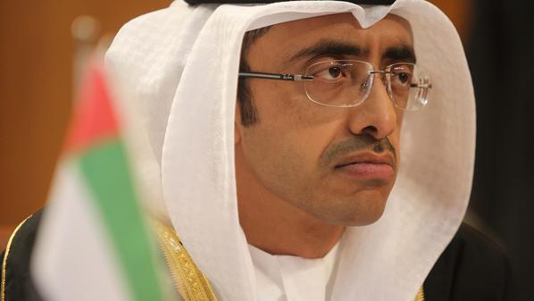 وزير الخارجية الإماراتي عبد الله بن زايد آل نهيان