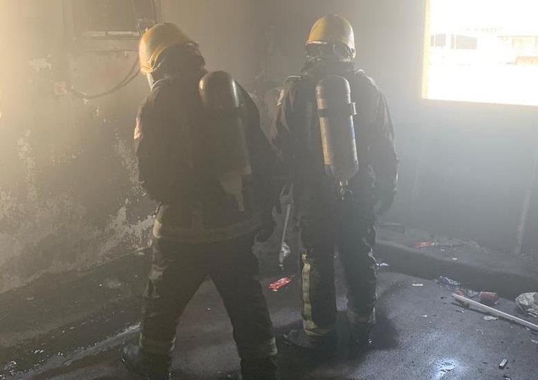 تماس كهربائي يتسبب في حريق شقة بجازان