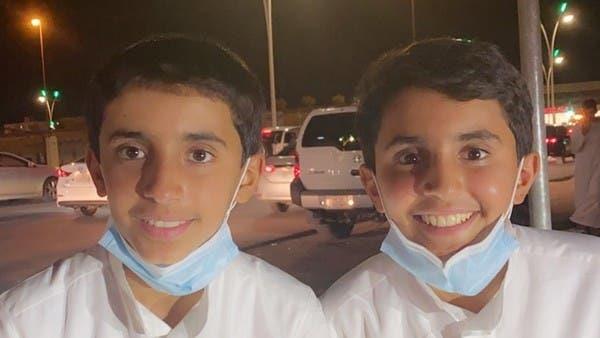الطفلان عبد الله وإبراهيم المهوس
