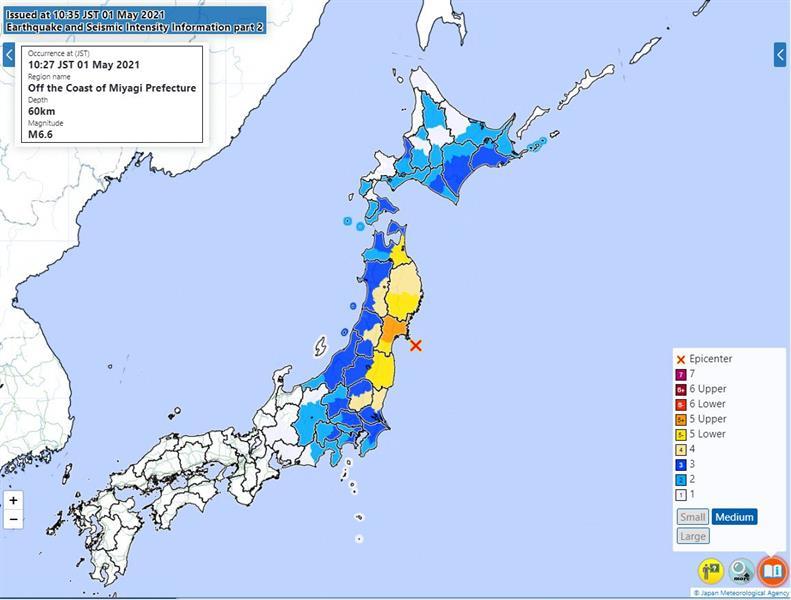 سفارة المملكة باليابان تؤكد سلامة المواطنين من الزلزال