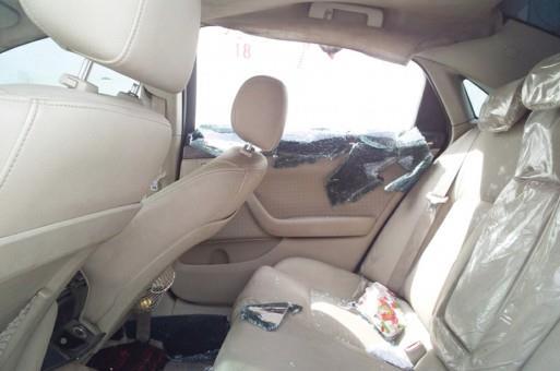 السيارة بعد تخريبها