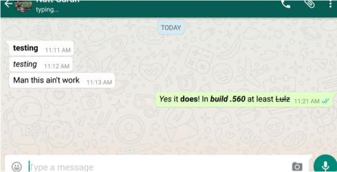 whatsapp text format