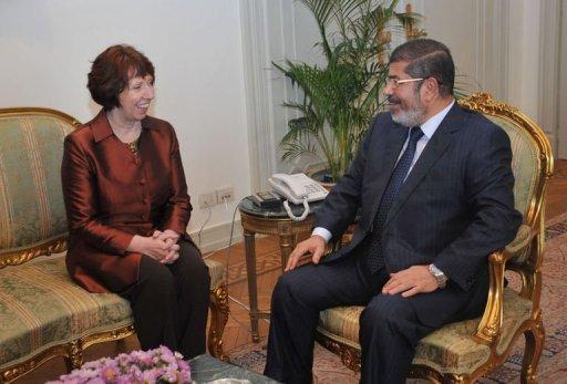الرئيس محمد مرسي و اشتون