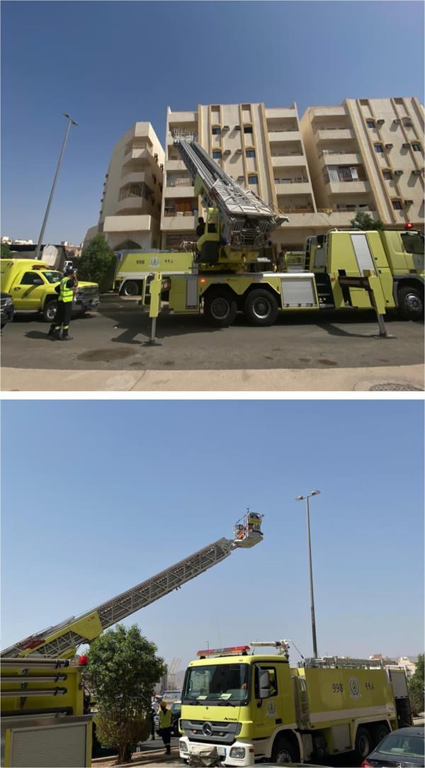 """""""الدفاع المدني"""" يخمد حريقاً في شقة بالمدينة المنورة"""