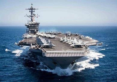 """حاملة الطائرات الأمريكية """"يو إس إس نيميتز"""""""