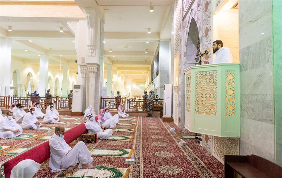 الشيخ الدكتور بندر بليلة يلقي خطبة يوم عرفة بمسجد نمرة