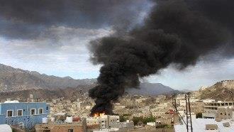 القصف الحوثي على تعز