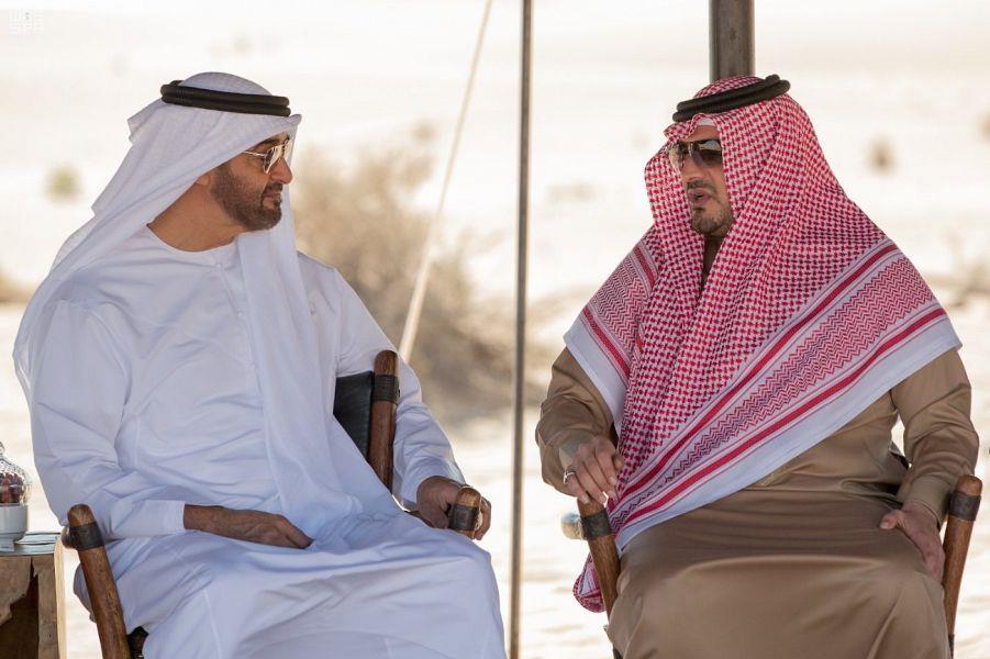 شاهد.. محمد بن زايد يستقبل وزير الداخلية أثناء زيارته للإمارات