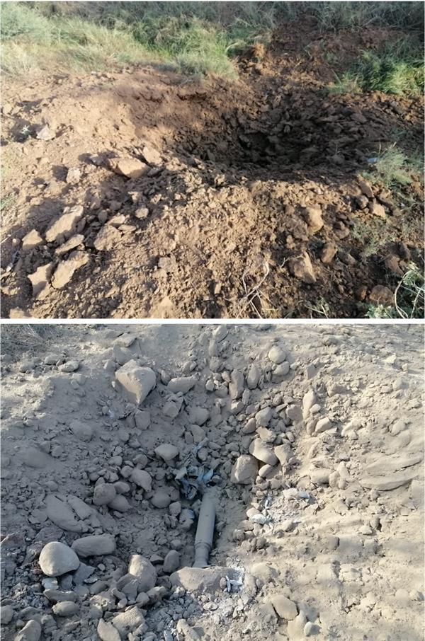 سقوط مقذوف عسكري أطلقته الميليشيا الحوثية الإرهابية المدعومة من إيران بالقرب من مستشفى الحرث