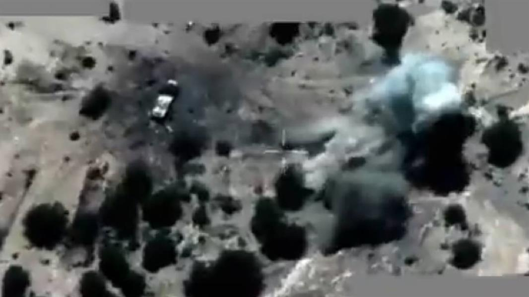 لقطات استهداف الآليات العسكرية