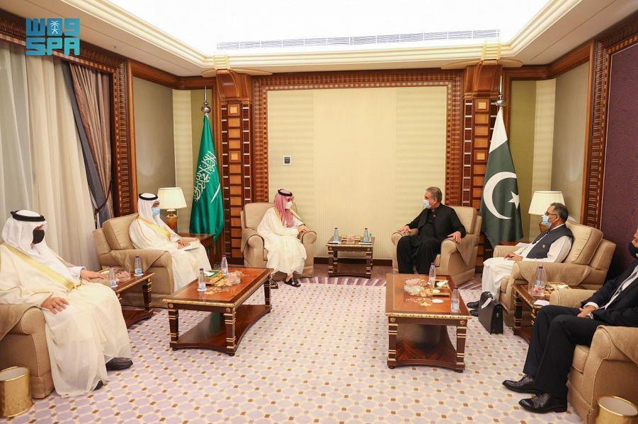وزير الخارجية يلتقي نظيره الباكستاني