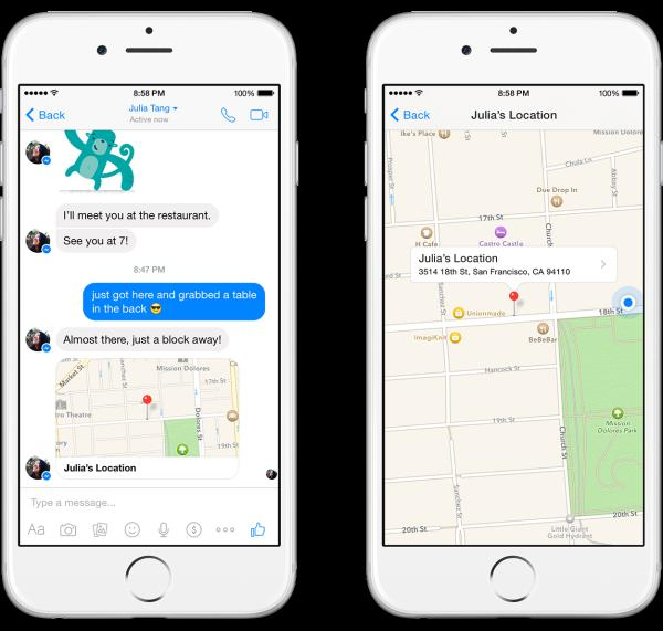 facebook  messenger Share your location 3