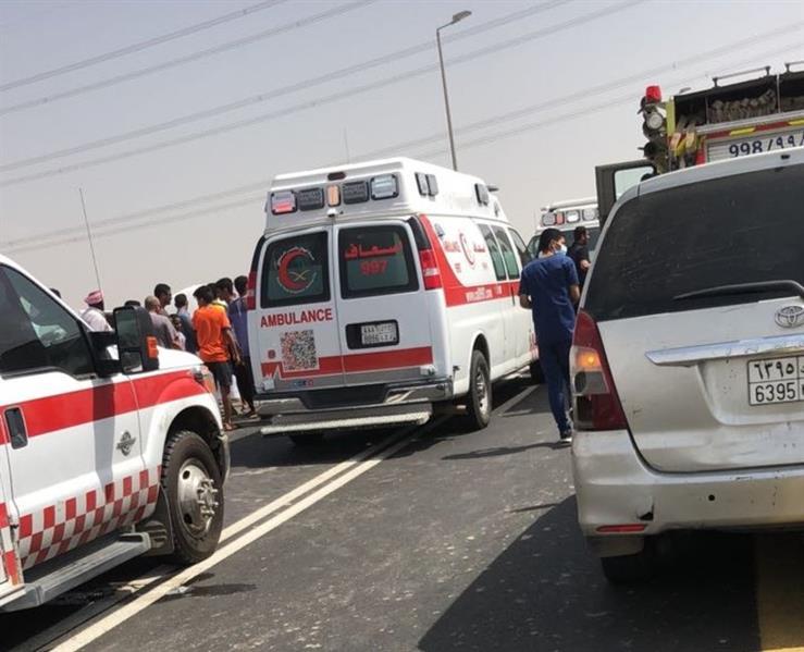 مصرع وإصابة 4 معلمات في حادث تصادم مروّع بجازان