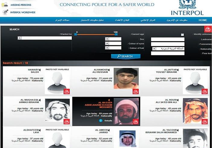 """""""الإنتربول"""" يكشف عن قائمة بـ17 سعودياً مطلوباً لـ7 دول"""