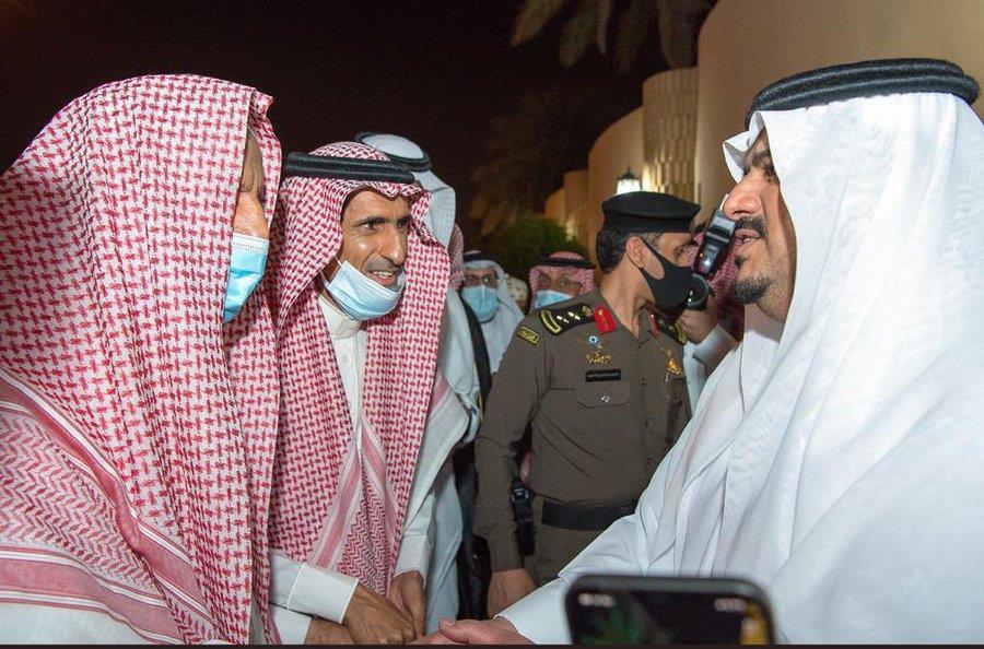 المفتي يعزي الأمير محمد بن عبدالرحمن