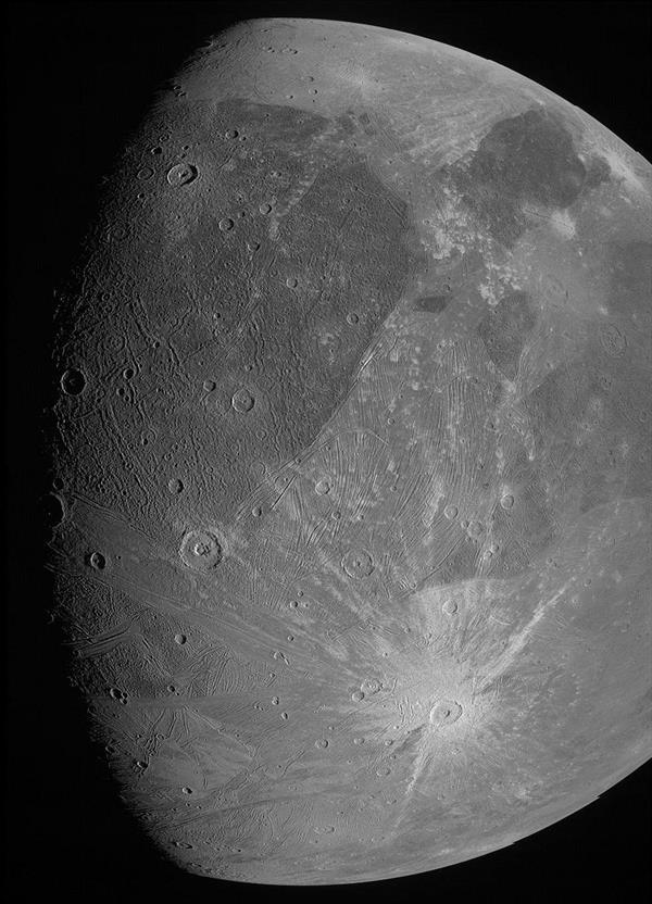 ناسا تنشر صورتين لأكبر أقمار كوكب المشتري