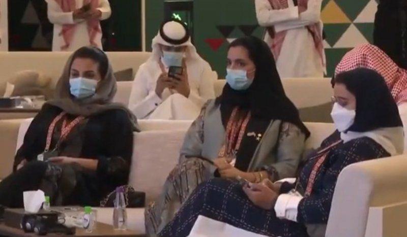 جانب من الحضور النسائي الفاعل واللافت في قمة العشرين