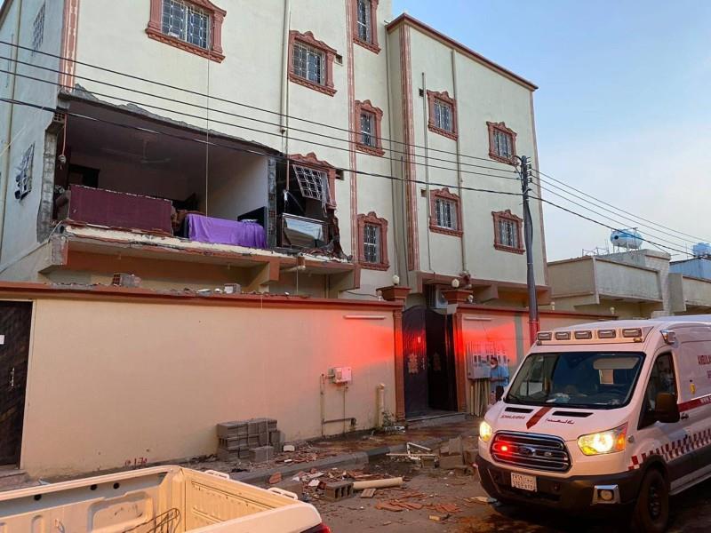 إصابة 5 أشخاص في حادث انفجار بسبب تسرب الغاز في منزل بنجران