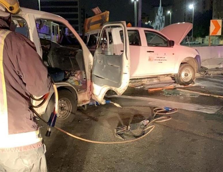 تصادم باص في جدة يصيب 6 أشخاص