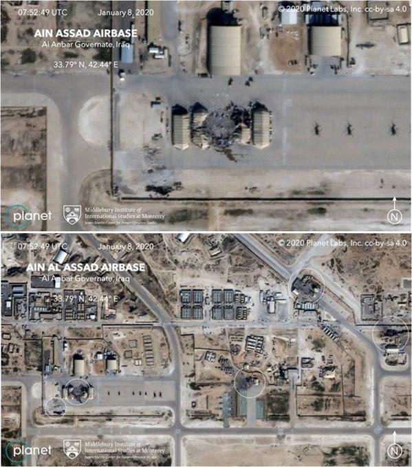 صور تكشف لأول مرة حجم الأضرار في قاعدة عين الأسد الأمريكية