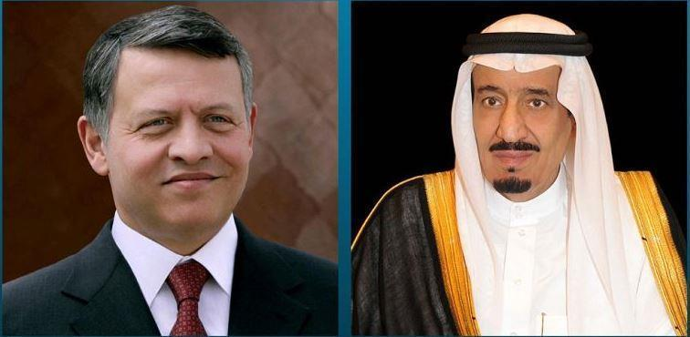 خادم الحرمين الشريفين الملك سلمان بن عبد العزيز وملك الأردن عبدالله الثاني