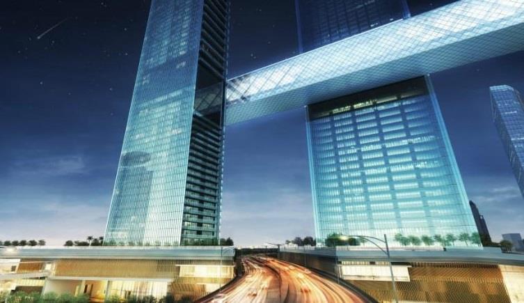 أطول برج أفقي معلق في العالم