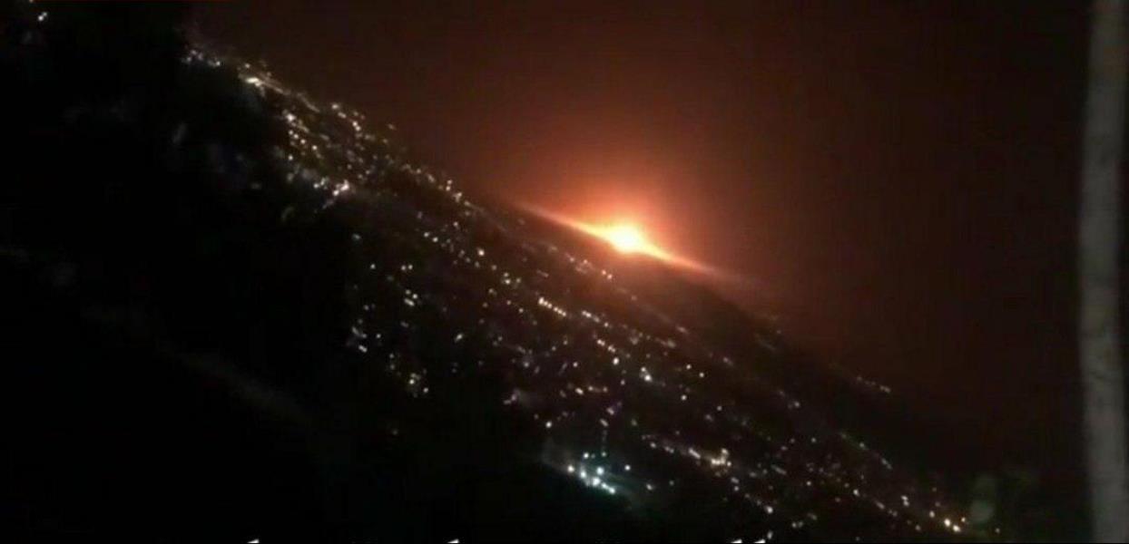 سماع دوي انفجـار شديد غرب العاصمة الإيرانية