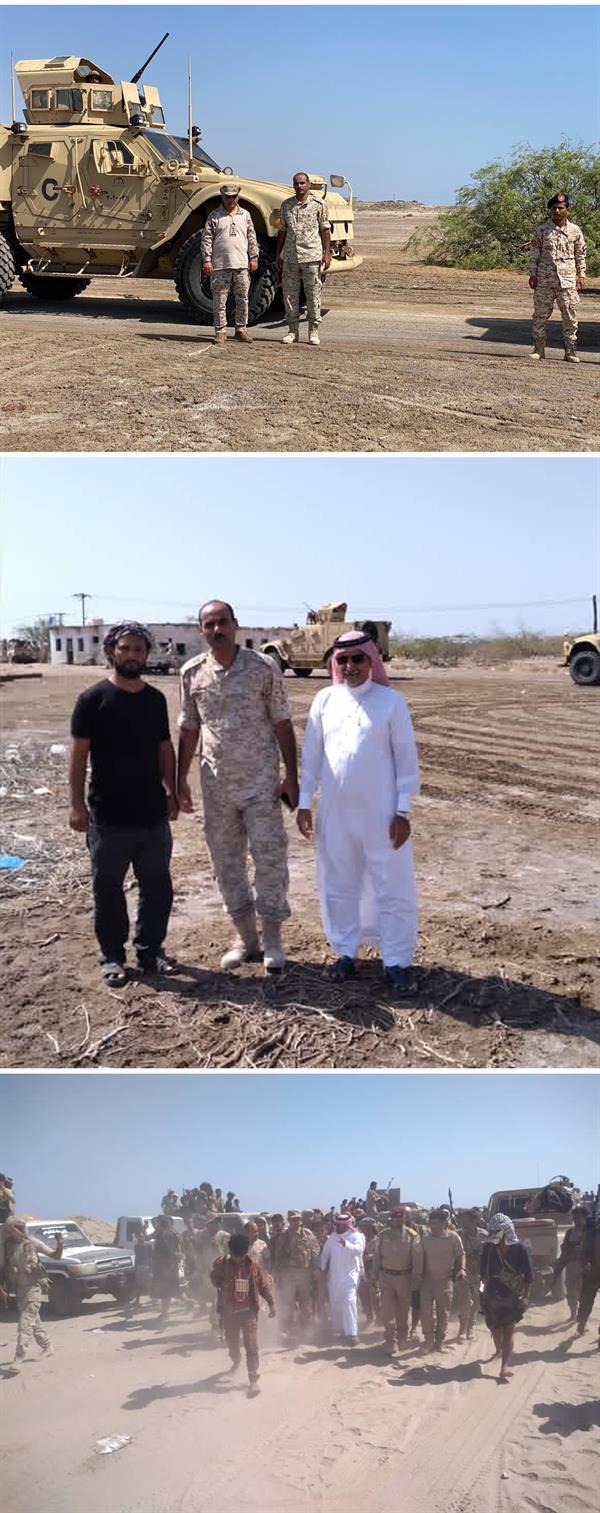 """سفير المملكة في اليمن ينشر صوراً لضباط """"التحالف"""".. ويعلق: من أجل نفض غبار المعارك وحقن الدماء"""