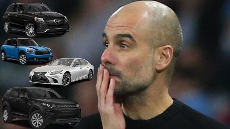بالصور..غوارديولا يدمر 4 سيارات بقيمة 600 ألف دولار