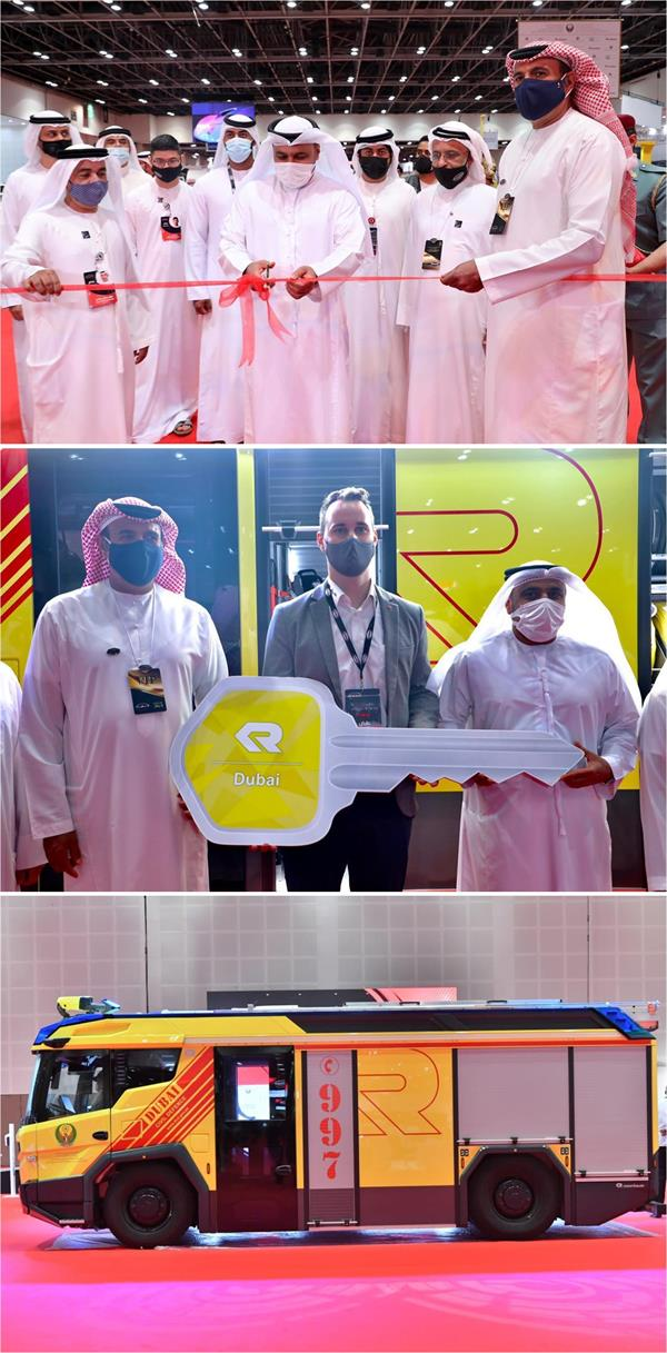 """.  """"دبي"""" تطلق محرك إطفاء كهربائي ذكي ، وهو الثاني في العالم"""