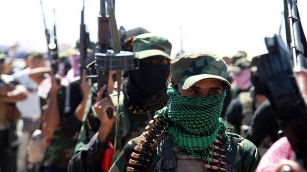 مسلحون معارضون للحكومة العراقية في الرمادي