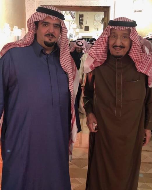 أخبار 24 بالصورة الأمير عبد العزيز بن فهد مع عمه خادم الحرمين