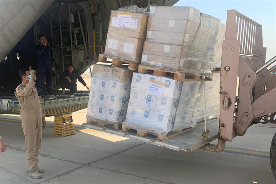 """""""الدفاع"""" ترسل طائرة عسكرية محمّلة بالمساعدات الطبيّة إلى العراق"""