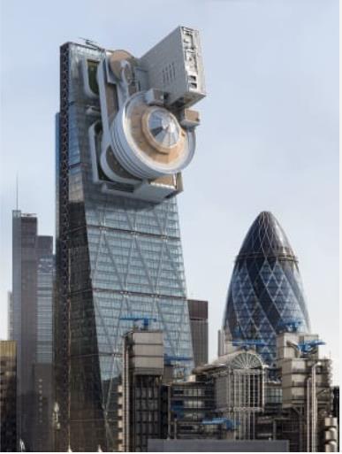 """مبنى """"فرانك لويد رايتس جوجنهايم"""" وتثبيته على الجانب الأعلى لناطحة سحاب في """"لندن"""""""