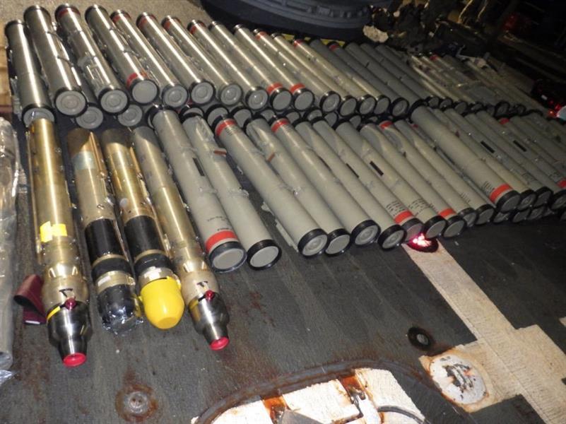 صورة من الصواريخ المضبوطة