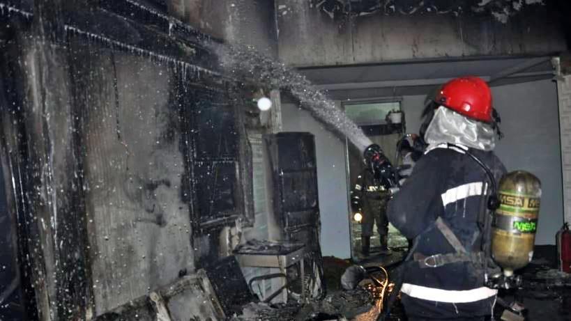 حريق مستشفى ابن الخطيب بغداد