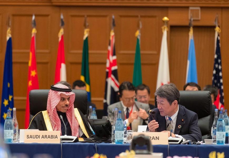 الامير فيصل بن فرحان يتسلم رئاسة مجموعة العشرين